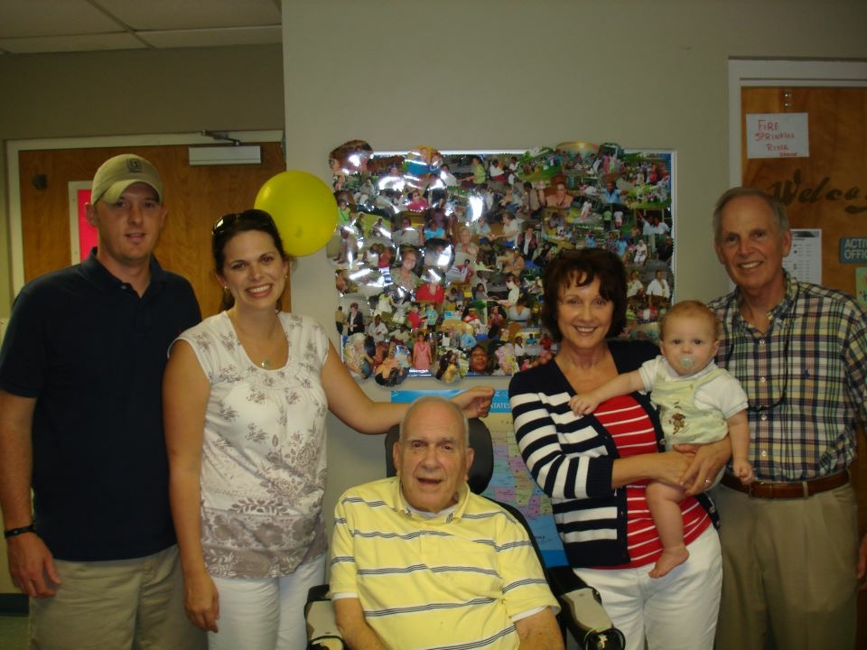 My Uncle's 90th Birthday Party. I was in my 50s, Chuck was in his 60s, our daughter and her husband were in their late 20s and their baby was less than 2.