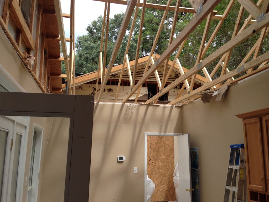 All but two of the trusses had to be replaced.