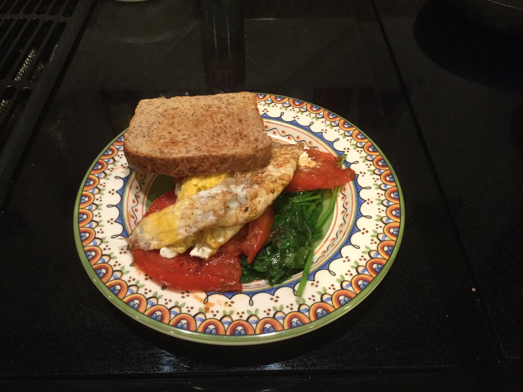 egg and tomatoe florentine
