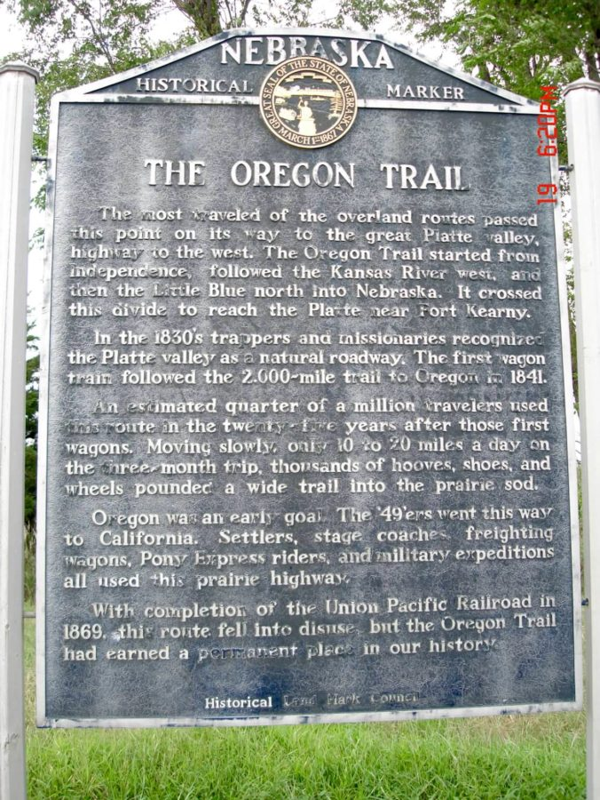 The Oregon Trail Historic Marker