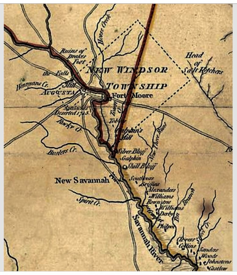 Old Augusta Map