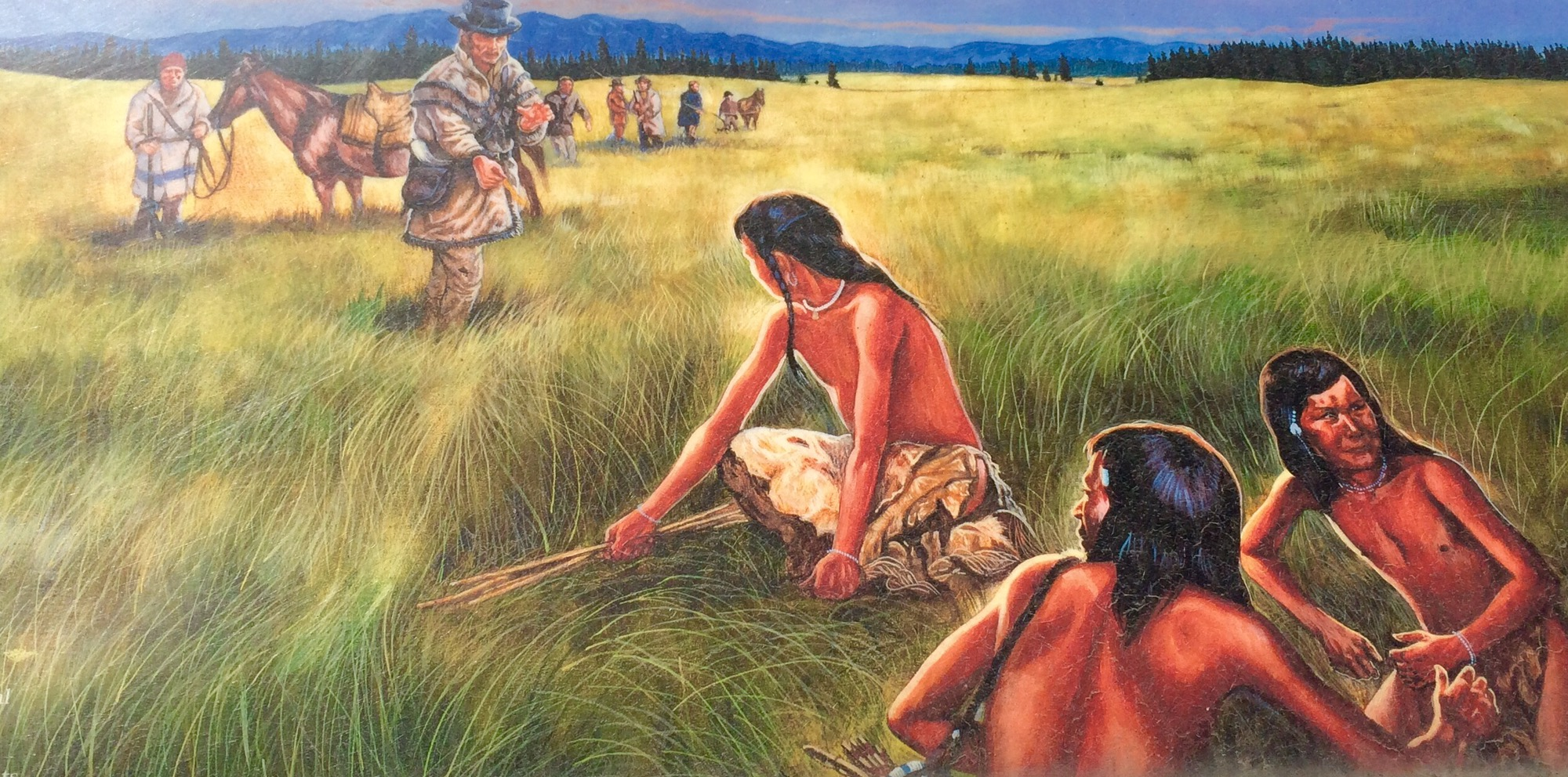 when did lewis and clark meet the nez perce indians